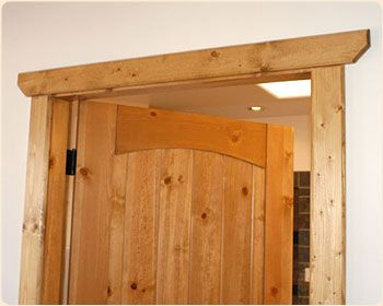 simple rustic trim Google Image Result for http://www.southwestdecorating.com/images/rustic-door-casing.jpg