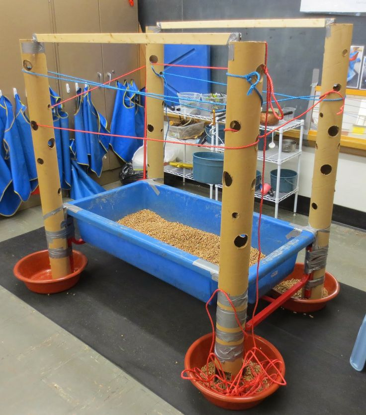 SAND AND WATER TABLES: EXPLORING THE VERTICAL TUBES WITH ROPES