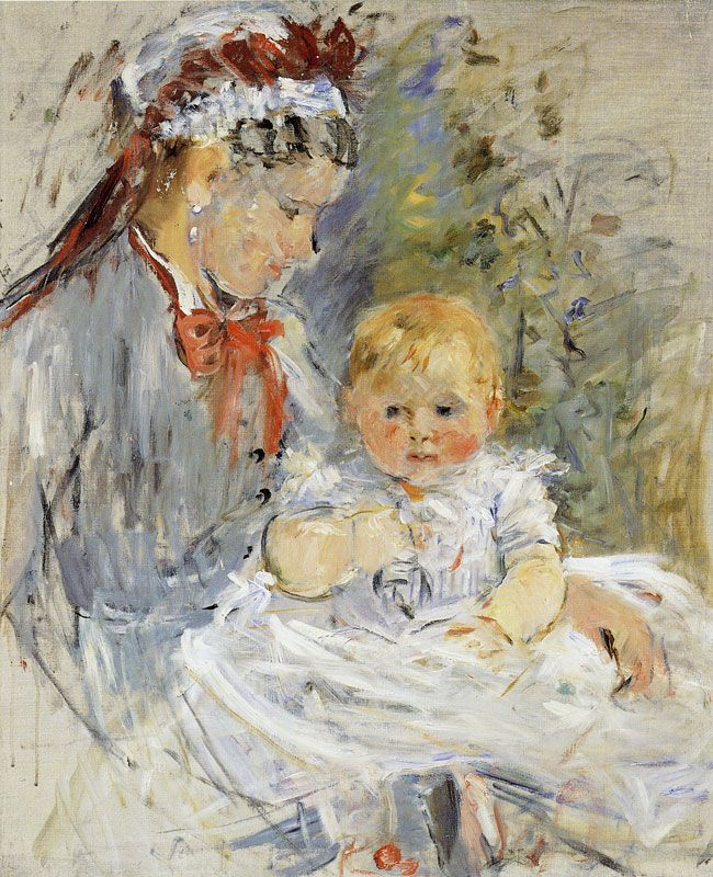 Berthe Morisot The Wet Nurse 1880 73 x 60 cm Oil on canvas Ny Carlsberg Glyptotek, Copenhagen