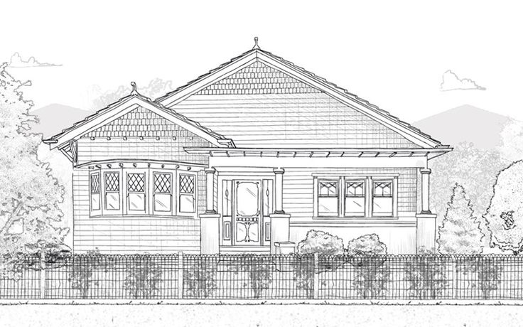 Bungalow House (1910-1930) Most commonly Californian, with Indian and British variants, these cosy looking houses combined Arts and Crafts concepts with the ideal of the simple house in a natural setting. More rustic than preceding styles, they featured an increased use of natural materials. Most were single storey with a simple floor plan centred on the hallway, and were set well back from the street.