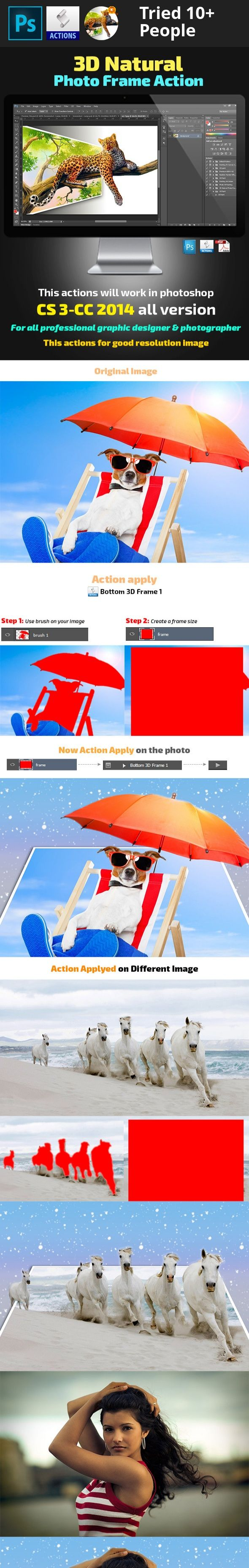 3d, 3d effect, action, actions, add-on, advanced, atn, automate, blurred, bokeh, edition, effect, fashion, film, light, lights, manipulation, modern, pattern, photo effect, photography, Photography Resources, photoshop, psd, realistic, reflex, retro, shimmer, shine, stunning  Click on the image for watch the video   3D Natural Photo Frame Action Features i.  One Click To Apply An Amazing Effects On Your Photo  ii. Clean actions, Clean work, easily editable  iii. Fully Customizable and easy…
