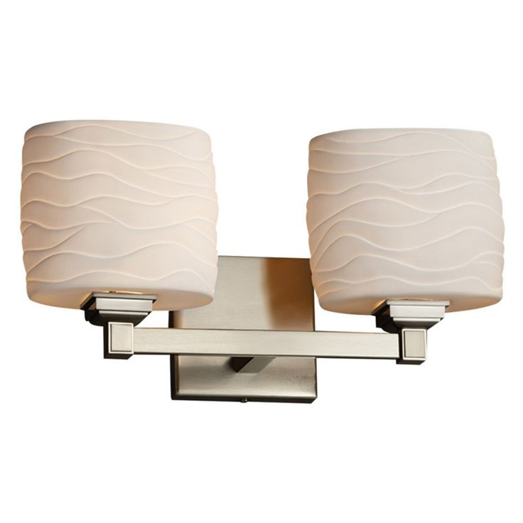 Justice Design Limoges Regency POR-8432-30 Vanity Light - POR-8432-30-WAVE-NCKL