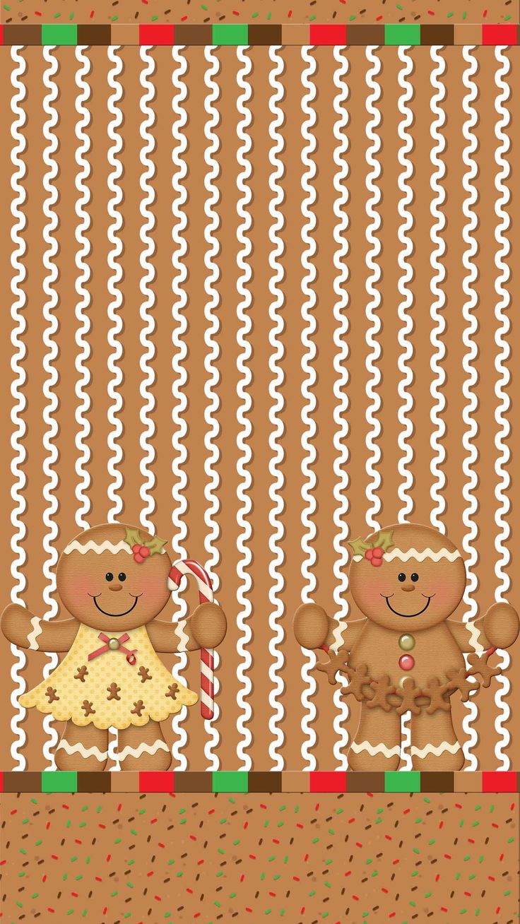 christmas gingerbread wallpaper background gingers