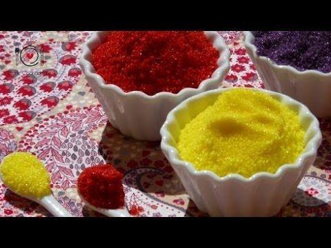 Cómo hacer Azúcar de Colores   LHCY