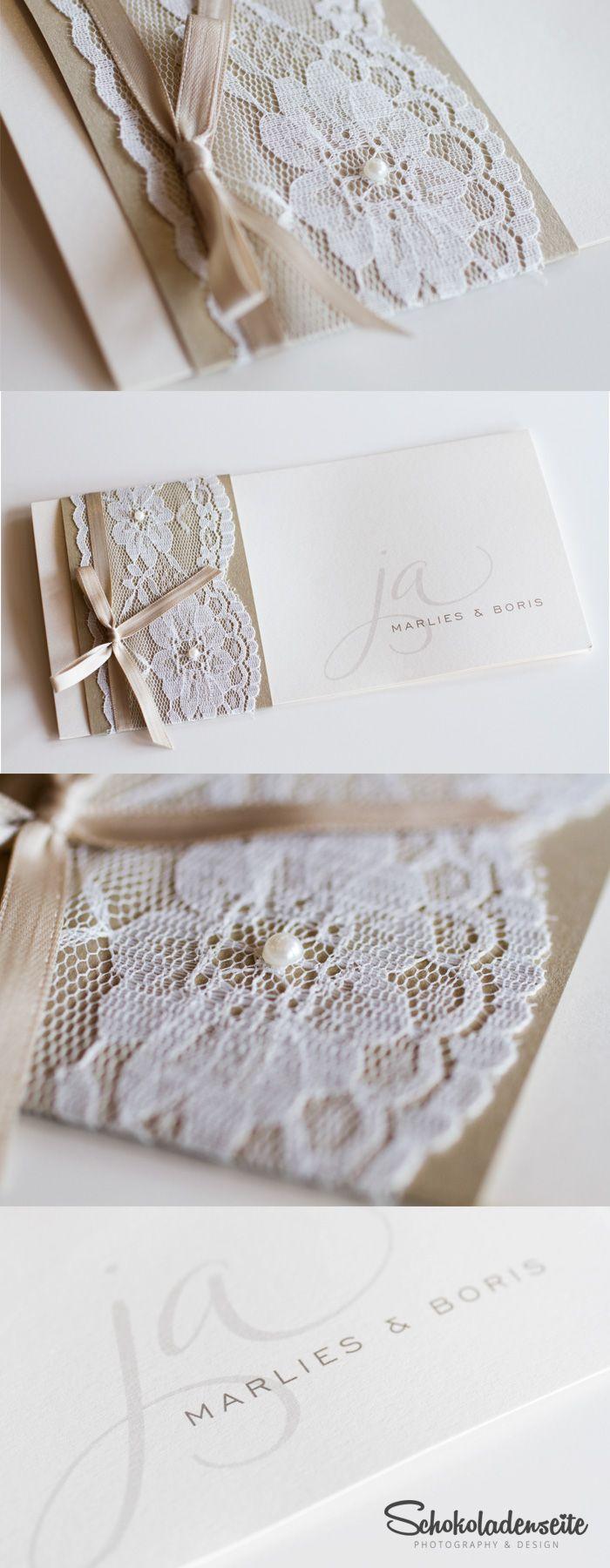 Die 25 besten ideen zu papierperlen auf pinterest - Hochzeitseinladungen mit spitze ...