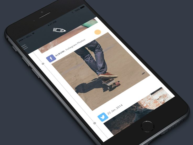 Hi guys! I would like to share an animation for a graphic editor app I am currently working on. On this screen the photo feed is loaded from the most popular social networks such as facebook, twitt...