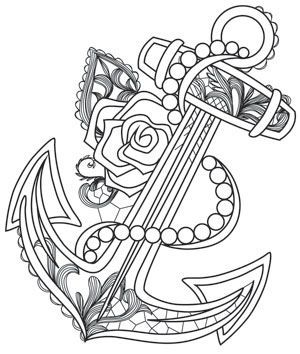 anchor coloring pages Aquarius   Anchor | Urban Threads: Unique and Awesome Embroidery  anchor coloring pages