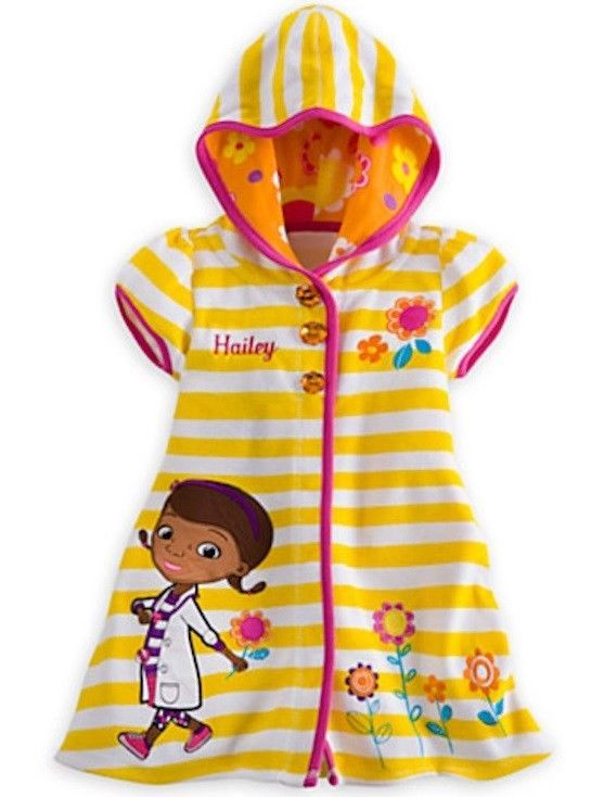 0168236f6e Disney Store Doc McStuffins Swimming Cover Up Girl's sz 2 NEW Hooded Terry  Cloth #DisneyStoreDocMcStuffinsBeachCoverUp #DisneyBeachCoverUp ...