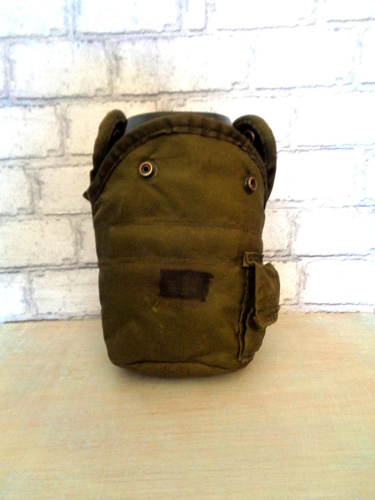 Vintage genuine British Army surplus pouch and canteen and mug belt clip on olive green 58 pattern Nato issue hunting woodland buttpack by IrishBarnVintage on Etsy
