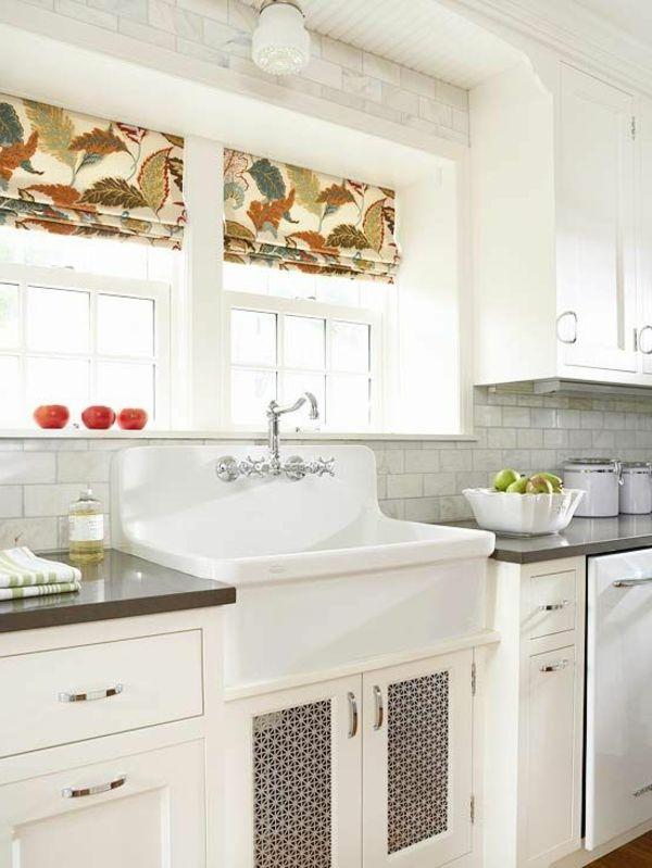 Raffrollos Ideen Küche Gestalten