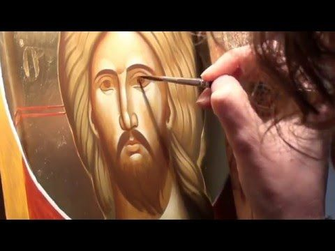Iconography Tutorial: Painting the Face of Christ - YouTube