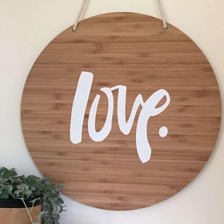 SUPER SIZED HAND-PAINTED LOVE SIGN