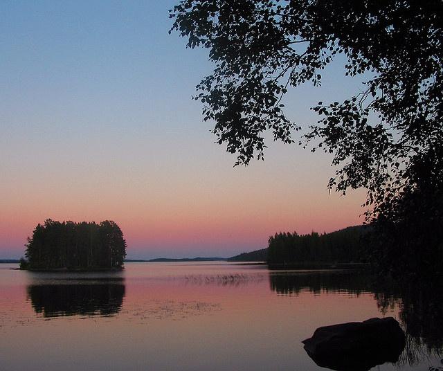 Pielinen Lake at dusk, Koli, Eastern Finland