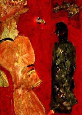 "Saatchi Art Artist CRIS ACQUA; Collage, ""26-LAUTREC x Cris Acqua"" #art"