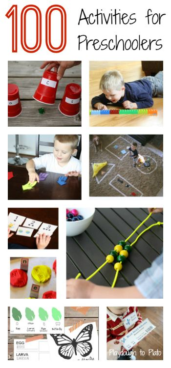 More than 100 activities for preschoolers from some of our favorite kid blogs.