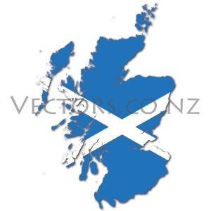 Flag Vector Map of Scotland