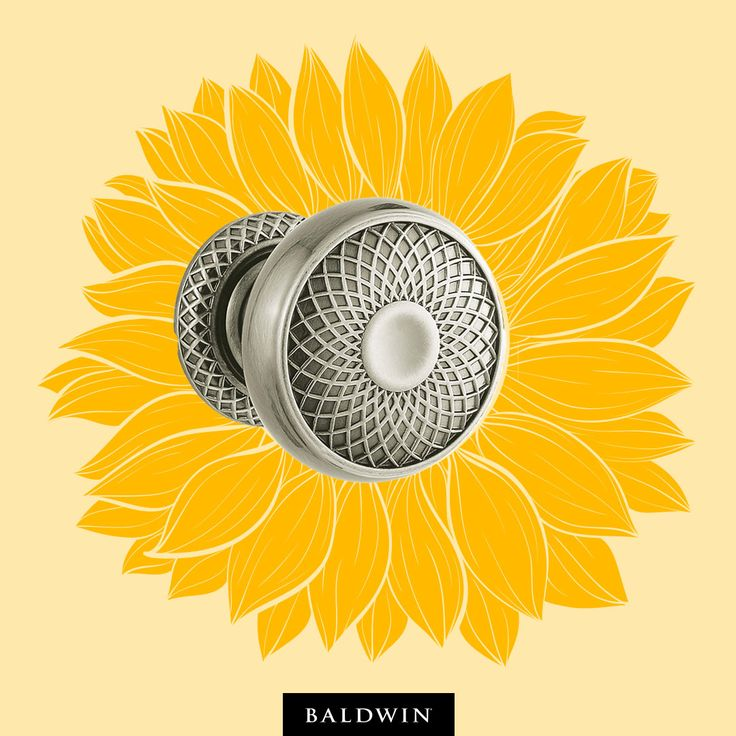 Add a fun touch to your home décor with Baldwin's door hardware. Featured here: K002 Estate Knob.