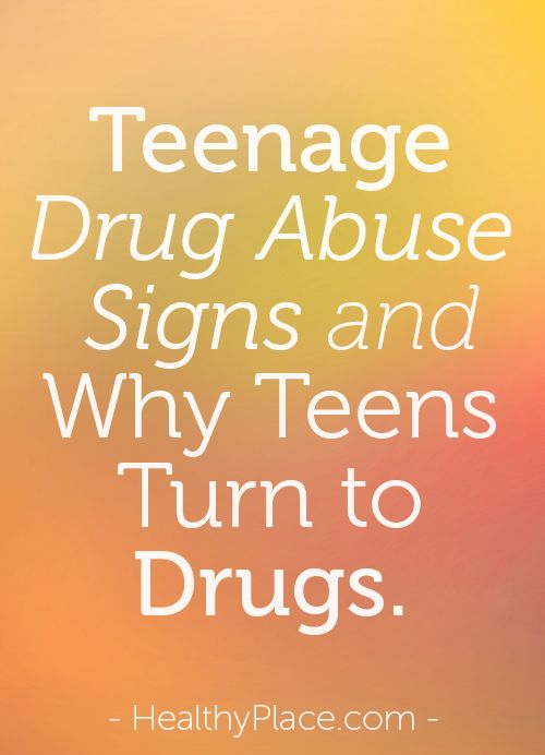 Many addicts start using drugs in their teens and facts about drug abuse in teenagers are of interest to agencies who wish to reduce teenage drug abuse. It is thought if the number of teen drug abusers can be reduced, then addiction overall will decline.   www.HealthyPlace.com