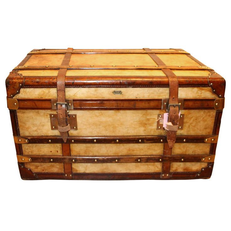 1900u0027s Vellum And Leather Trunk | From A Unique Collection Of Antique And  Modern Trunks And