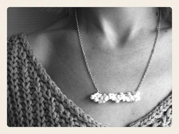 Mini Pompon Necklace by SKRIN on Etsy, €13.00
