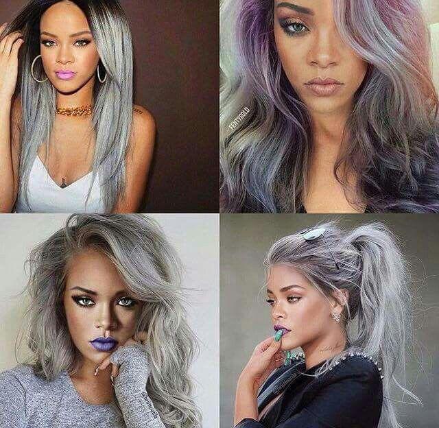 Rihanna grey hair ~ pinterest: @xpiink ♚