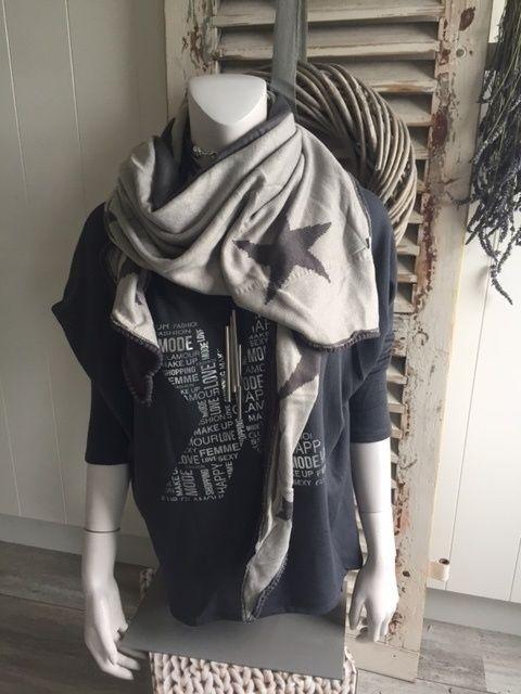 Sterren sjaal - driehoek (grey)