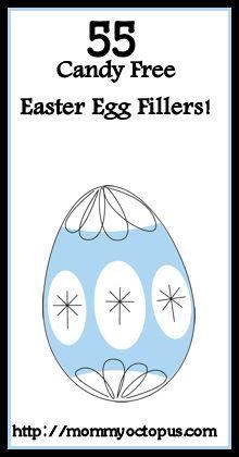 55 Candy Free Easter Egg Filler Ideas