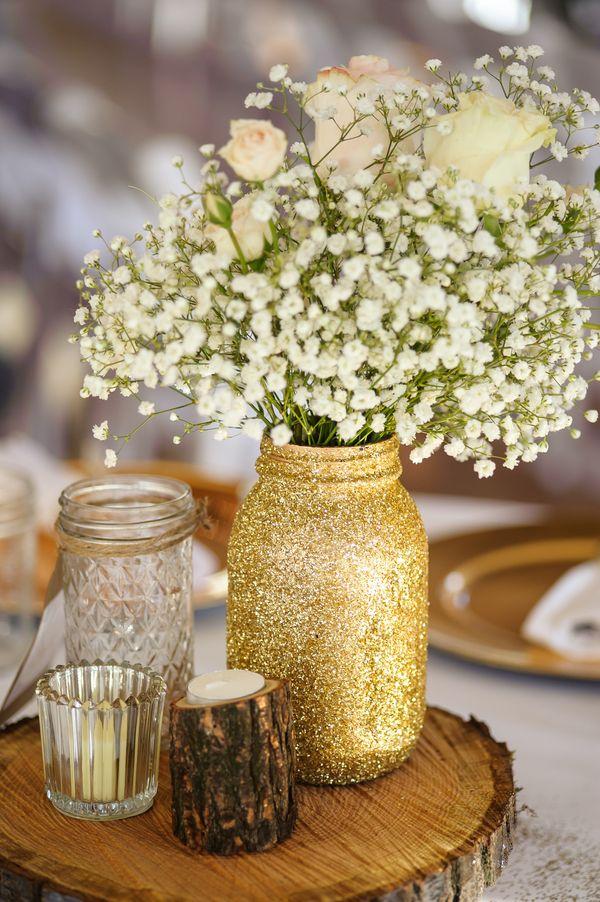Gold glitter and beautiful