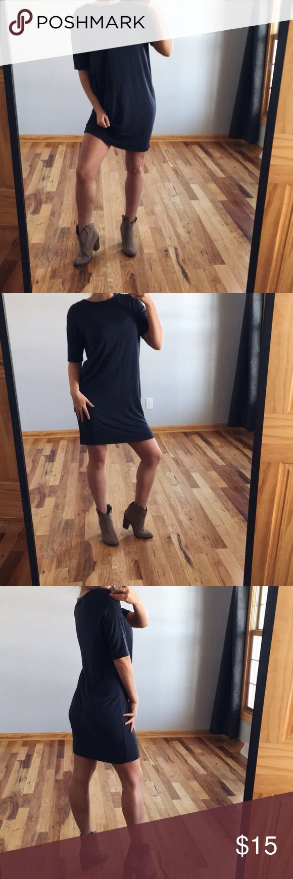 half sleeve shirt dress gently used half sleeve dress, super soft and casual, perfect with a jean jacket and booties! Dresses Midi