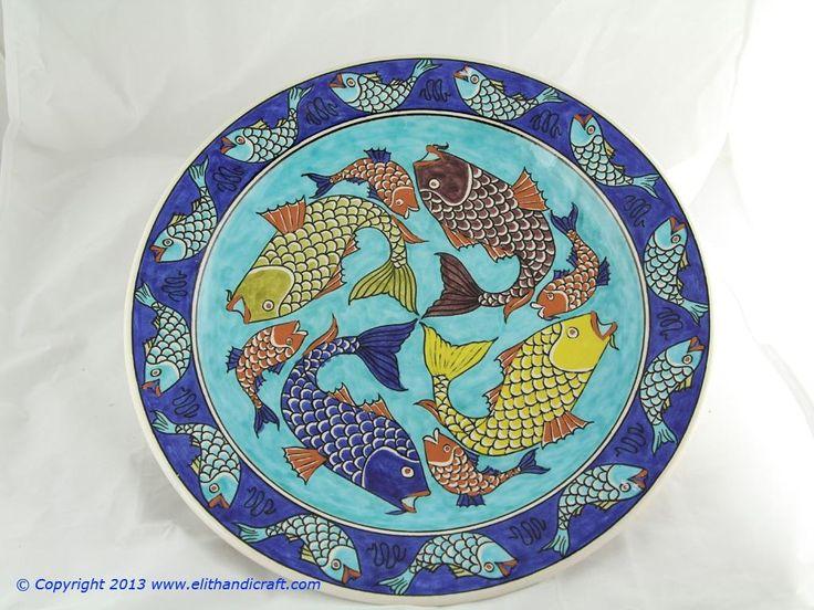 Elit Handicraft - SU010001 Sıtkı II Balık Desenli Çini Tabak
