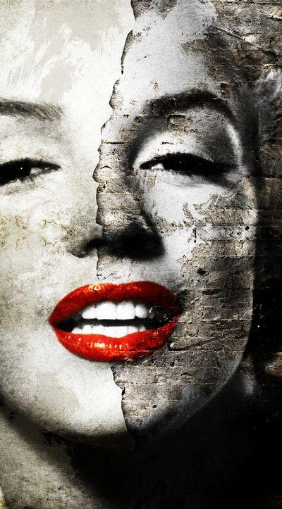 Marilyn Monroe - Wall painting Art Print by Tobia Crivelari
