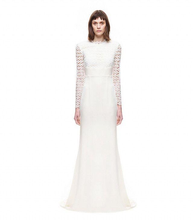High street wedding dresses: Self-Portrait Eva Backless Silk Wedding Gown
