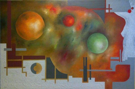Oil and sand on canvas by Jesús Ojeda. Exedra 4. Year 2012. (180x140cm)