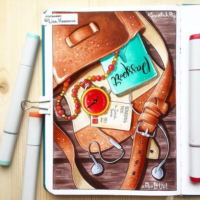 #travelsketch #sketchbook #markers