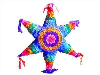 Como hacer piñatas mexicanas con forma de estrella