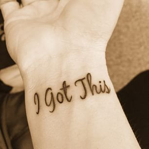 My be re thinking my wrist tattoo. ... This but in white~