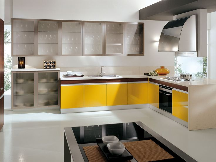 Best Febal Casa Italian Design Kitchens Images On Pinterest - Breakfast nook wooden cabinets linear kitchen mixer tap yellow chairs