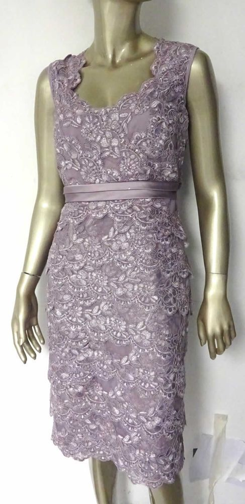 NEW JACQUES VERT PURPLE LILAC SWEETHEART LACE LAYERED DRESS WEDDING 10 to 22