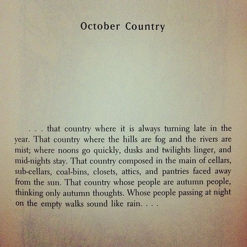 Ray Bradbury -- the October Country