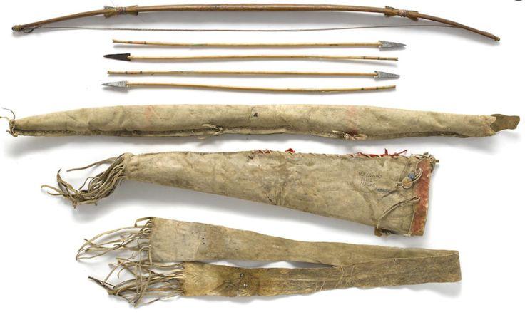 Чехол для лука, колчан, лук, стрелы, Апачи. Длина 43 дюйма. Bonham's, NATIVE AMERICAN ART. 6-7 июня 2016 года. Сан Франциско.