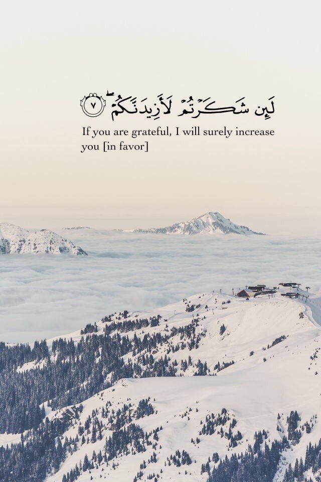 Quran Quotes - If you are grateful, I will surely increase you [in favor]