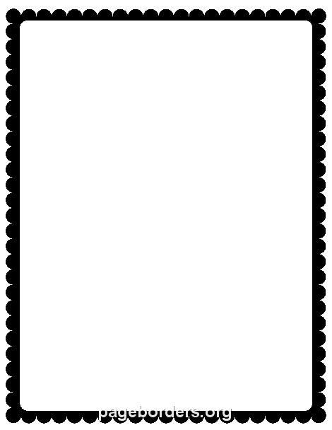 Printable black scalloped border. Use the border in Microsoft Word or other programs for creating flyers, invitations, and other printables. Free GIF, JPG, PDF, and PNG downloads at http://pageborders.org/download/black-scalloped-border/