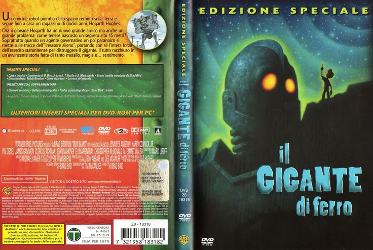 Il gigante di ferro (The Iron Giant - special edit 1999)_Dvd full cover Ita (3161x2124)