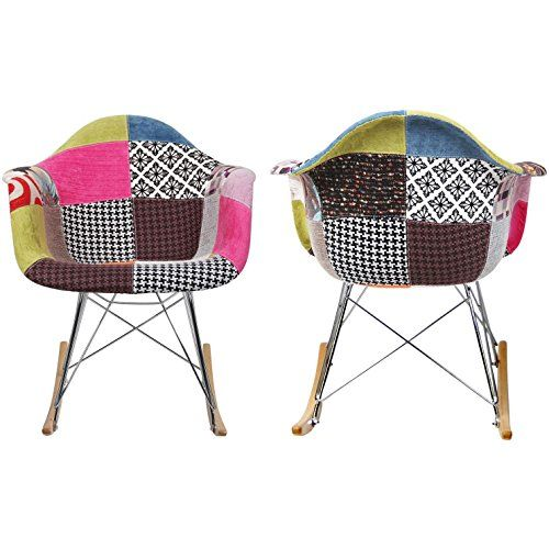 2xhome   Single (1)   Multi Color   Modern Upholstered Eames Style Armchair  · Fabric ChairsEamesLounge ...