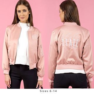 Style State Bomber jacket now 10% off. Only a few left #trickstar #staywarm #bomberjacket #pink