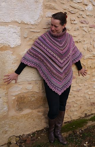 Secret Paths And Hidden Daisies Poncho Pattern By Lilinette Crochet