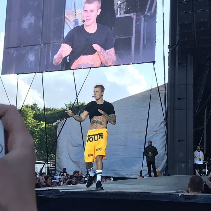 "bieber-news: "" June 5: [More] Fan taken photos of Justin performing in Aarhus, Denmark. "" -"