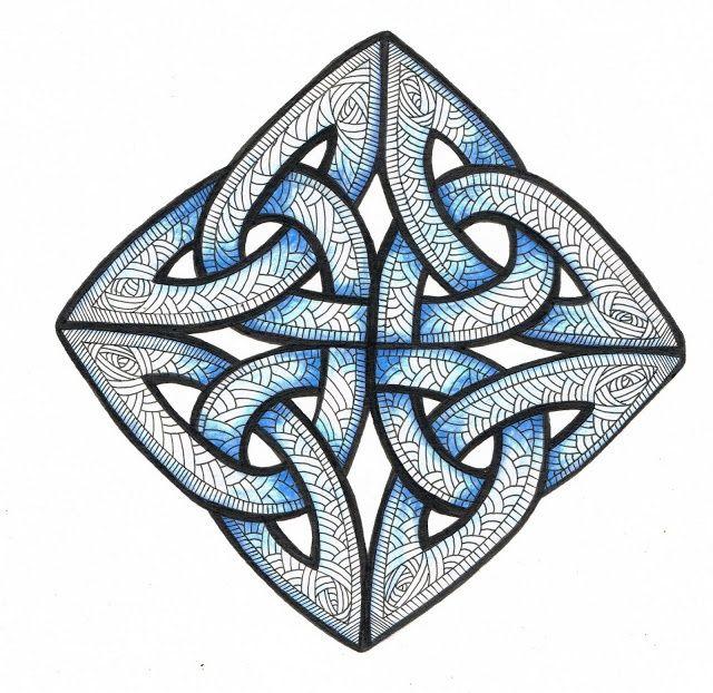 celtic zentangle | Pin by Sila Menke on doodling, Zentangle, Zenzeichnen | Pinterest