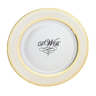 Iriana Personalized 10.25u0027u0027 Porcelain Dinner Plate $58  sc 1 st  Pinterest & 11 best Personalized Wedding Plates images on Pinterest | China ...