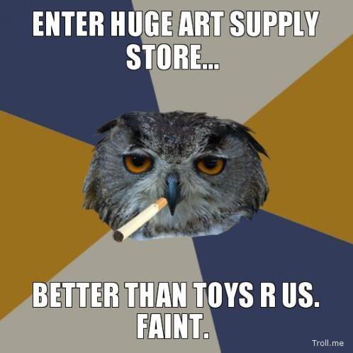 Art Student Owl meme